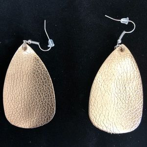 Faux leather earrings free with bundle